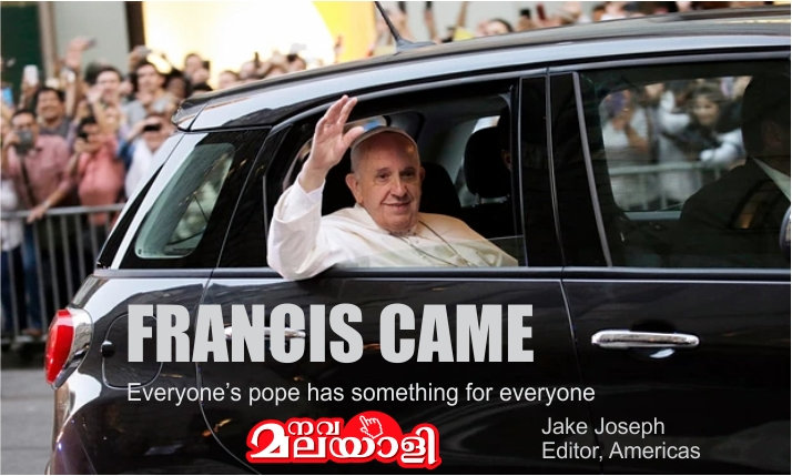 Francis Came, Everyone's Pope has something for everyone – Jake Joseph, USA