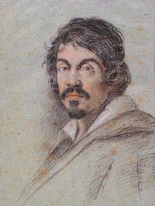 Caravaggio Portrait by Bild Ottavio Leoni