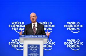 DAVOS/SWITZERLAND, 21JAN15 - Klaus Schwab, Founder and Executive Chairman, World Economic Forum addresses the audience during the plenary session 'Welcoming Remarks and Special Address' at the congress centre during the Annual Meeting 2015 of the World Economic Forum in Davos, January 21, 2015. WORLD ECONOMIC FORUM/swiss-image.ch/Photo Michael Buholzer