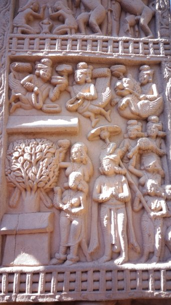 detail-of-reliefs-on-sanchi-gateways