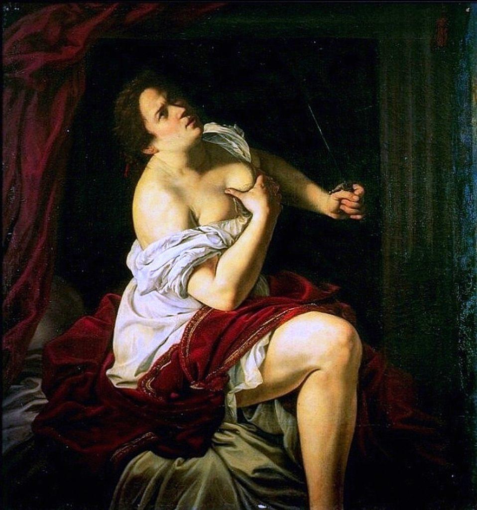 Artemisia Gentileschi / Артемизия Джентилески (1593-1653) - Lucrezia / Лукреция (около 1620-1621)