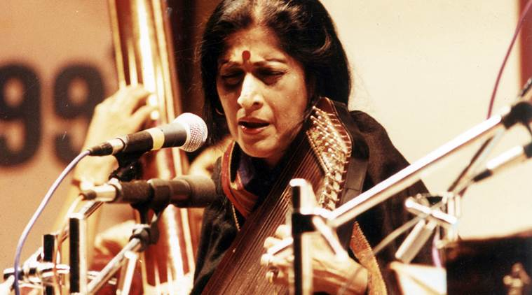 Singer Kishori Amonkar. Express archive photo *** Local Caption *** Singer Kishori Amonkar.